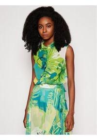 Guess Koszula W1GH0R W70Q0 Zielony Regular Fit. Kolor: zielony
