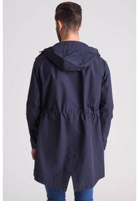 Niebieski płaszcz Emporio Armani