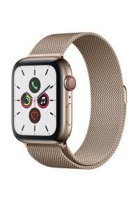 Złoty zegarek APPLE casualowy