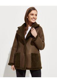 ALMAROSAFUR - Dwustronna kurtka Ingrid. Kolor: brązowy. Wzór: moro. Styl: klasyczny, militarny