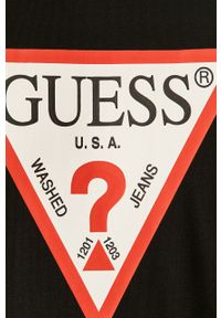 Czarna bluza nierozpinana Guess casualowa, na co dzień