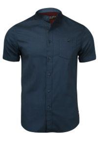 Niebieska koszula casual Brave Soul krótka, ze stójką