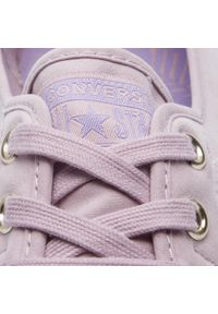 Fioletowe buty sportowe Converse na co dzień, z cholewką