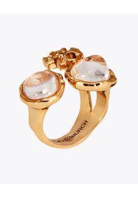 Tory Burch - TORY BURCH - Rozszerzany pierścionek Roxanne. Materiał: z mosiądzu, pozłacane, złote. Wzór: aplikacja