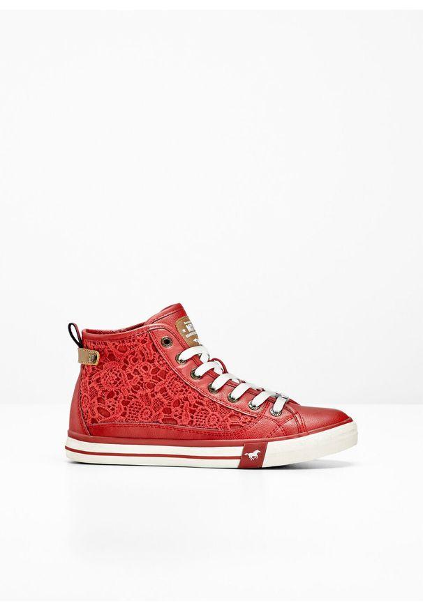 Czerwone buty sportowe bonprix z aplikacjami