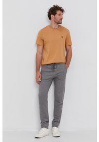 United Colors of Benetton - Spodnie. Kolor: szary. Materiał: dzianina