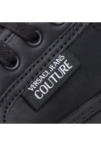 Czarne półbuty Versace Jeans Couture casualowe, z cholewką, na co dzień