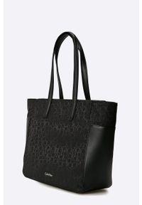 Czarna torebka Calvin Klein Jeans duża, na ramię