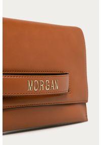 Złota kopertówka Morgan na ramię, z aplikacjami