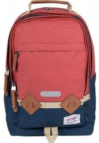 Strigo Plecak szkolny Leisure Basic czerwony (BL22). Kolor: czerwony