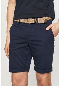 Niebieskie szorty PRODUKT by Jack & Jones casualowe, na co dzień, gładkie