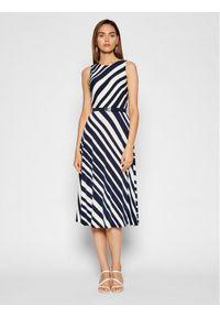 Lauren Ralph Lauren Sukienka koktajlowa 250837446001 Granatowy Regular Fit. Kolor: niebieski. Styl: wizytowy