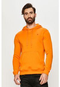 G-Star RAW - G-Star Raw - Bluza. Okazja: na co dzień. Kolor: pomarańczowy. Materiał: dzianina. Styl: casual
