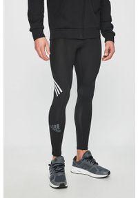 Czarne legginsy sportowe adidas Performance z nadrukiem, ClimaCool (Adidas)