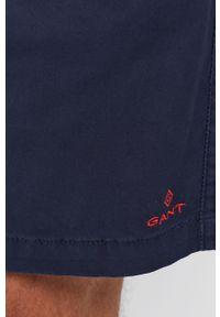 GANT - Gant - Szorty. Okazja: na co dzień. Kolor: niebieski. Materiał: tkanina. Wzór: gładki. Styl: casual