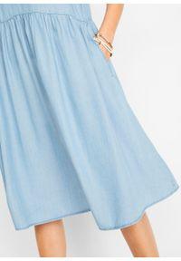 """Sukienka koszulowa z kolekcji Maite Kelly, Lyocell TENCEL™ bonprix niebieski """"bleached used"""". Kolor: niebieski. Materiał: lyocell. Typ sukienki: koszulowe"""