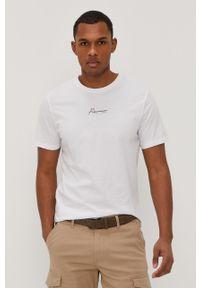 Biały t-shirt Premium by Jack&Jones na co dzień, casualowy, z nadrukiem