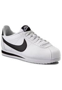 Białe buty sportowe Nike Nike Cortez, na co dzień, z cholewką