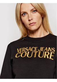 Versace Jeans Couture Bluza Logo Embro 71HAIT01 Czarny Regular Fit. Typ kołnierza: kołnierzyk włoski. Kolor: czarny