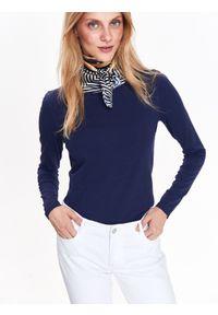Niebieski t-shirt TOP SECRET długi, z długim rękawem