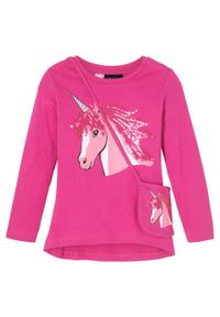 Różowa bluzka bonprix z aplikacjami