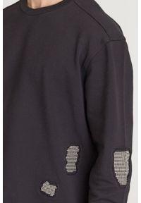 Bluza Just Cavalli z aplikacjami, z okrągłym kołnierzem