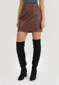 Brązowa spódnica mini Born2be
