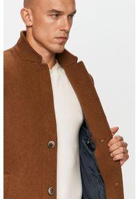 Brązowy płaszcz Tom Tailor Denim casualowy, na co dzień
