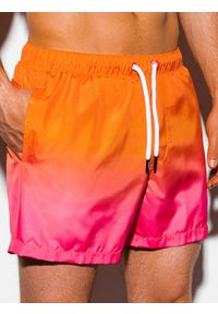 Pomarańczowe szorty Ombre Clothing