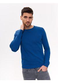 Niebieski sweter TOP SECRET na co dzień, na lato, klasyczny