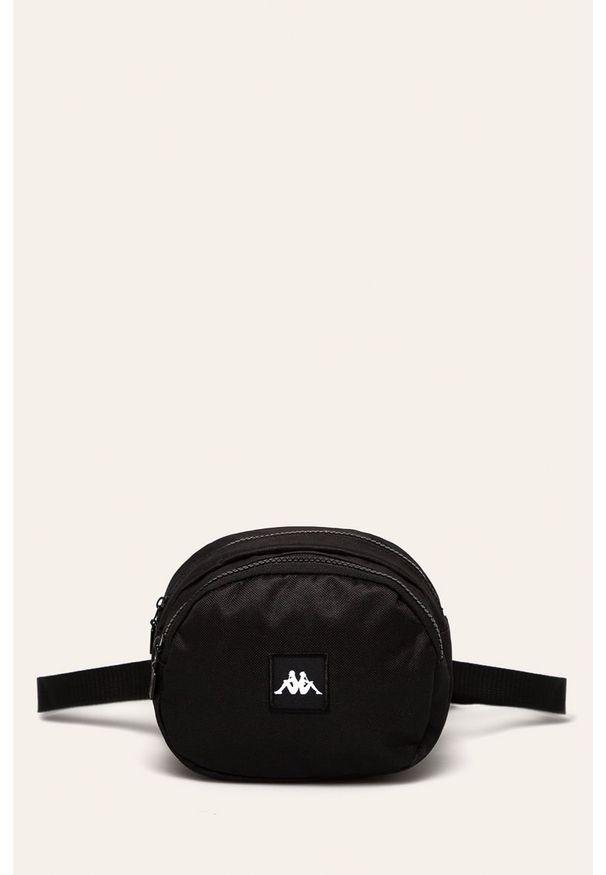 Kappa - Torba. Kolor: czarny. Materiał: poliester, materiał