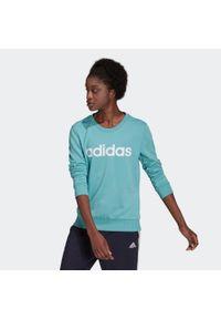 Adidas - Bluza fitness damska. Materiał: bawełna, wiskoza, poliester. Wzór: aplikacja. Sport: fitness