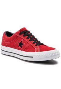 Czerwone trampki Converse na co dzień, z cholewką