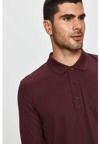 Fioletowa koszulka z długim rękawem Calvin Klein z okrągłym kołnierzem, casualowa