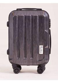 PIERRE ANDREUS - Mała walizka podróżna Pierre Andreus E-ABS roz. S. Materiał: materiał. Styl: wakacyjny
