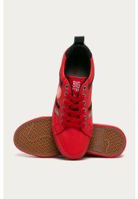 Czerwone buty sportowe Big-Star z okrągłym noskiem, z cholewką