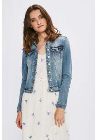 Vila - Kurtka. Okazja: na co dzień. Kolor: niebieski. Materiał: jeans. Styl: casual