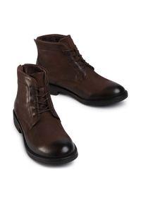 Brązowe buty zimowe Lasocki For Men z cholewką