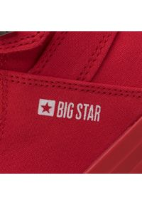 Czerwone półbuty Big-Star z cholewką, casualowe