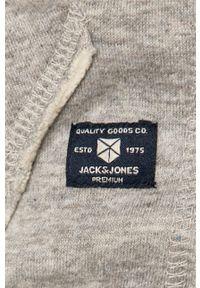 Szara bluza rozpinana Premium by Jack&Jones casualowa, na co dzień
