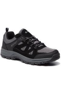 Szare buty trekkingowe Hi-tec trekkingowe, z cholewką