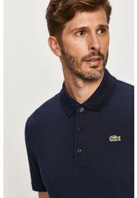 Niebieska koszulka polo Lacoste krótka, polo
