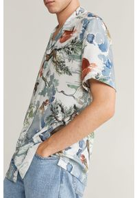 Biała koszula Mango Man z klasycznym kołnierzykiem, krótka, na co dzień, casualowa #7