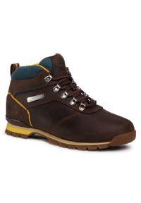 Brązowe buty sportowe Timberland z cholewką, z aplikacjami