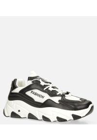 Casu - Czarne buty sportowe sneakersy sznurowane casu 204/33b. Kolor: wielokolorowy, biały, czarny