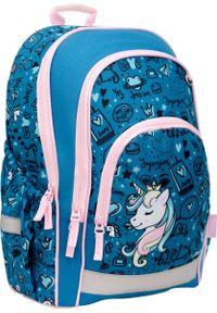 hama - Hama Plecak szkolny 2019/2020 Blue Unicorn