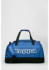 Niebieska torba Kappa z nadrukiem