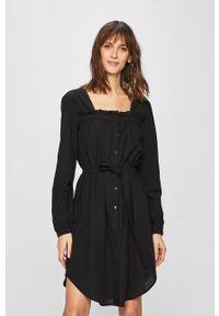 Czarna sukienka Vila z długim rękawem, mini