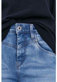 Pepe Jeans - Jeansy Dion Retro. Stan: podwyższony. Kolor: niebieski. Styl: retro