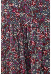 Jacqueline de Yong - Sukienka. Kolor: szary. Materiał: tkanina, poliester. Długość rękawa: na ramiączkach. Typ sukienki: rozkloszowane